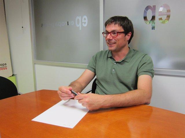 El secretario de organización de Catalunya En Comú, Xavi Matilla