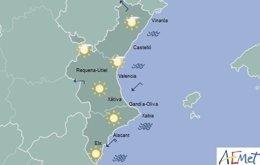 Intervalos de nubes y temperaturas sin cambios en toda la región