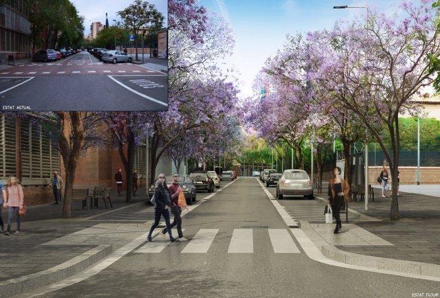 Proyecto de reurbanización de la calle del Cardenal Tedeschini