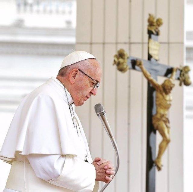 El Papa Francisco en la Basílica de San Pedro