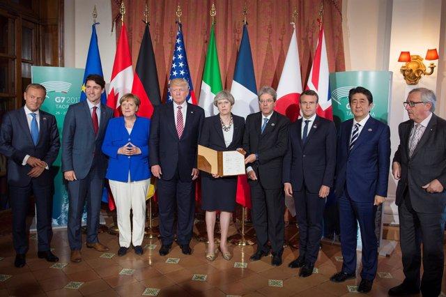 Reunión del G-7 en Taormina (Italia)