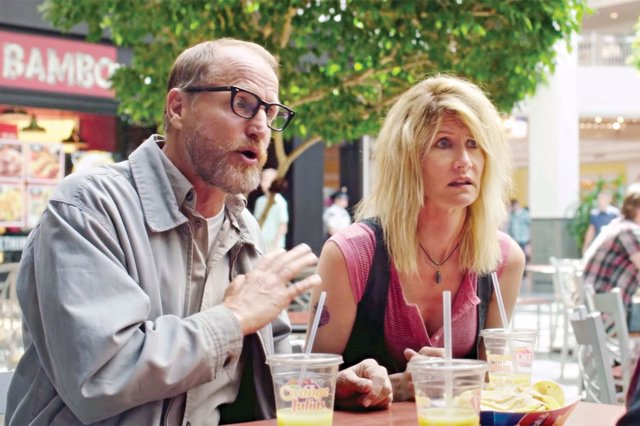 Laura Dern y Woody Harrelson en Wilson
