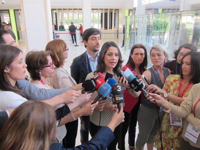 La portavoz de Cs y líder del partido en Catalunya, Inés Arrimadas