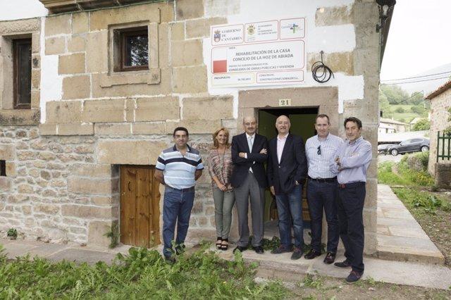 Inauguración de la rehabilitación de la Casa Concejo de la Hoz de Abiada