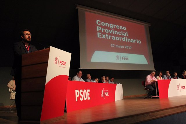 Lemus en el 'congresillo' del PSOE en Badajoz