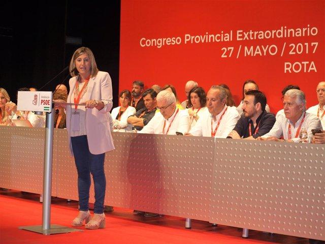 Irene García, en el Congreso Extraordinario del PSOE de Cádiz
