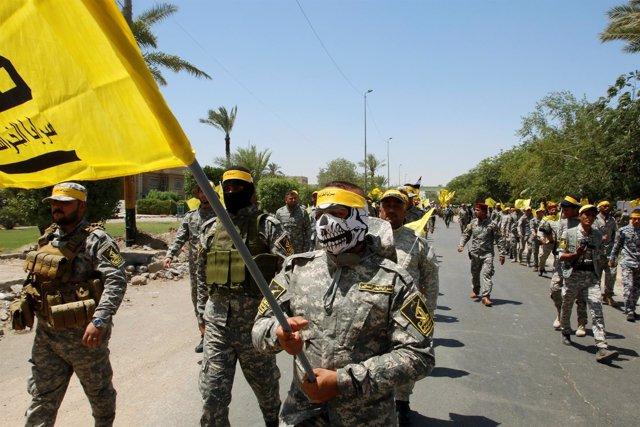 Miembros de las Unidades de Movilización Popular