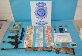 Desmantelado con dos detenidos un punto negro de venta y distribución de droga en Linares (Jaén)