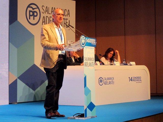 Salamanca.- Iglesias, durante su intervención