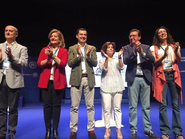 Báñez, Moreno, Sáenz de Santa María, González y López en Islantilla.
