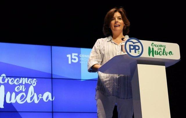 La vicepresidenta del Gobierno central, Soraya Sáenz de Santamaría.