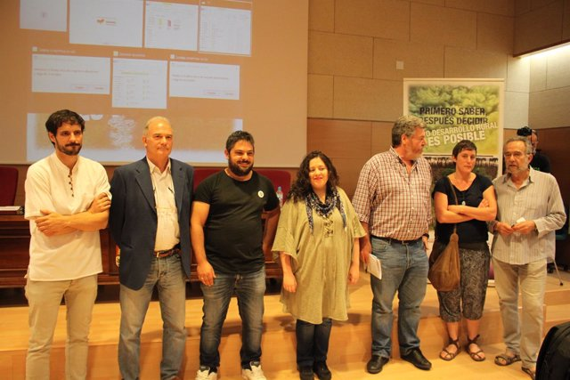 Soria.- Ponentes en la jornada organizada por Podemos