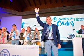 Antonio Sanz, reelegido presidente provincial del PP de Cádiz con el 99,2% de respaldo del Congreso Provincial