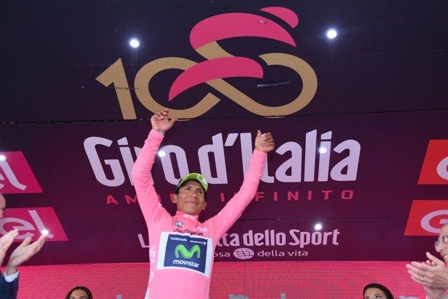 Nairo Quintana, líder de la 100 edición del Giro
