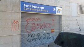 El PDeCAT de Sant Andreu de la Barca amanece con pintadas pidiendo cámara de gas para Mas