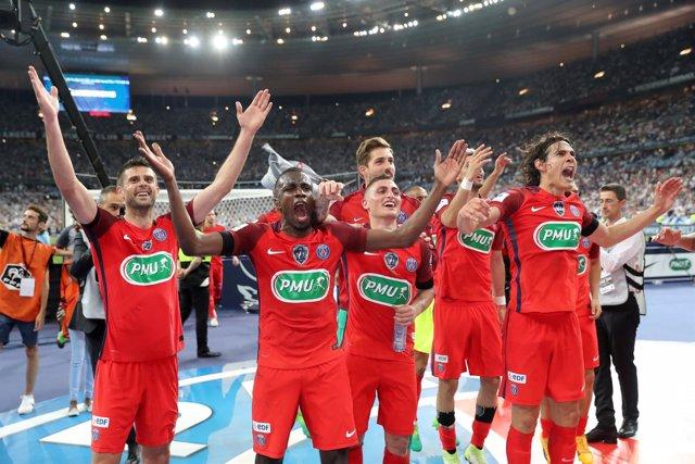 El PSG celebra la Copa de Francia