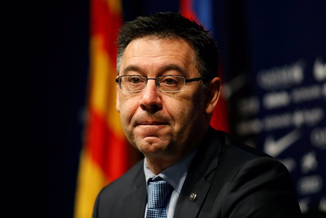 El presidente del F.C Barcelona, Josep María Bartomeu