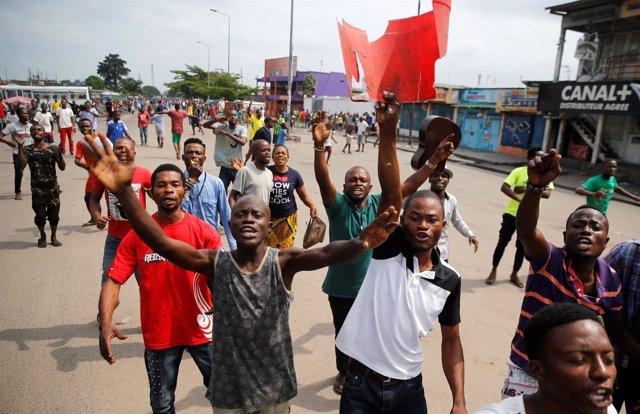 Congo, manifestaciones, oposición