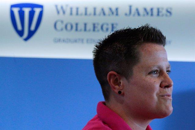 Una veterana de guerra en la universidad William James