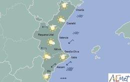 La jornada combinará sol y nubes en la mayoría de la región