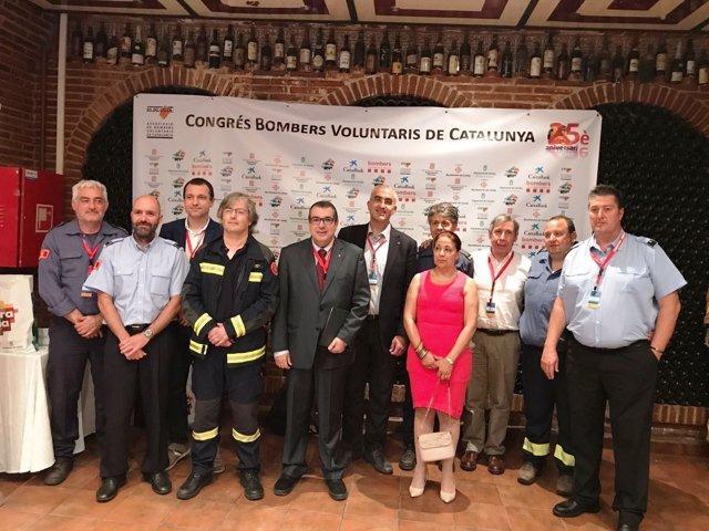 Jordi Jané en el Congreso de Bomberos Voluntarios de Catalunya