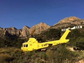 Rescatan en helicóptero a dos senderistas de 54 y 20 años y a su perro en el Cabeço d'Or