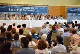 El PSOE de Málaga aprueba con el 93,6% de los votos la candidatura unitaria de 35 delegados al Congreso Federal