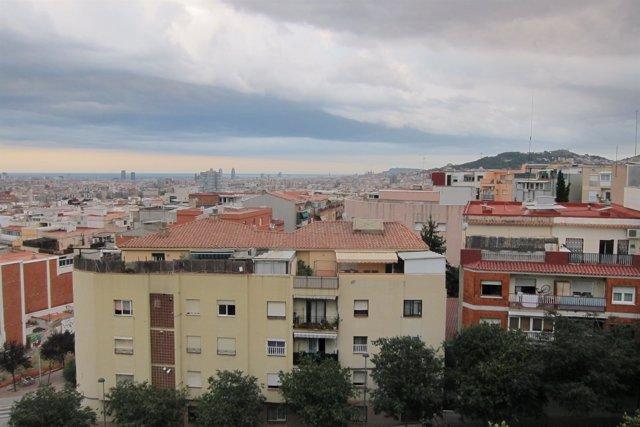 Barcelona, skyline, Nou Barris