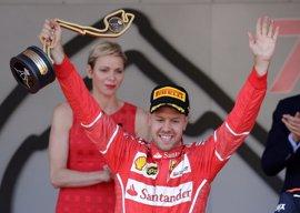 Vettel afianza su liderato reinando en Mónaco y Sainz termina sexto