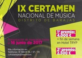 Barajas abre el plazo de inscripción al IX Certamen Nacional de Música para descubrir nuevos talentos musicales