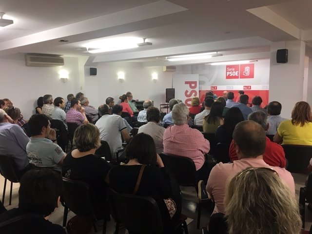 Soria.- Un momento del congresillo del PSOE