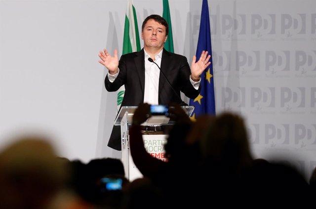 El ex primer ministro Matteo Renzi