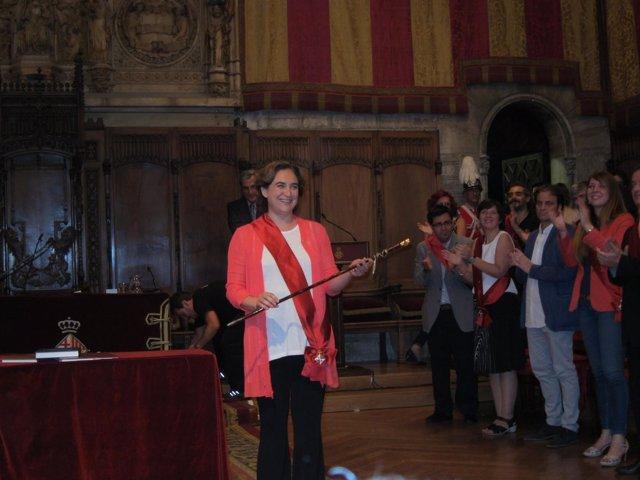 La líder de BComú, Ada Colau, elegida alcaldesa de Barcelona