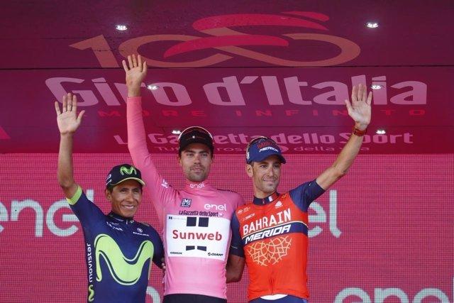 El ciclista del Movistar Team Nairo Quintana