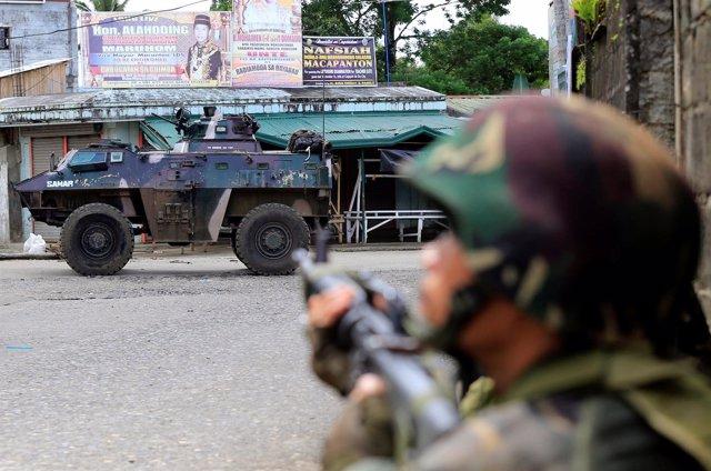 Operación de búsqueda del líder de Abú Sayyaf en Marawi, Filipinas