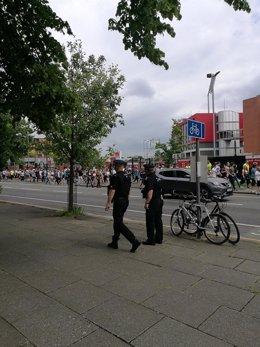 Dos agentes de Policía en Mánchester