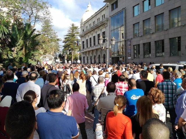 Protesta en Ceuta por colapso de la frontera del Tarajal