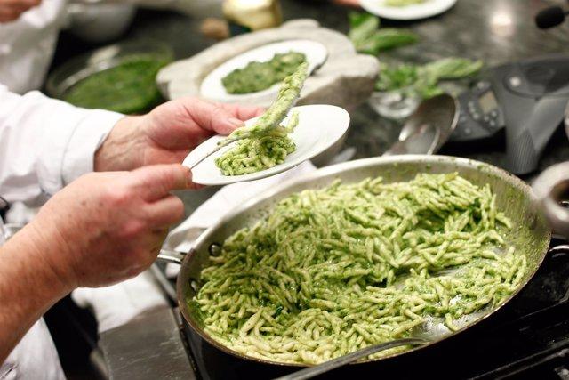 Cocinero restaurante italiano