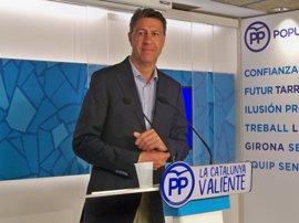 """Albiol acusa a Puigdemont y Junqueras de ser """"pirómanos"""" y reitera que no habrá referéndum"""
