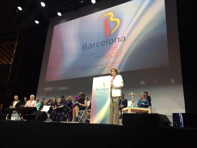 La ministra Dolors Montserrat en el 26 Congreso Internacional de Enfermería