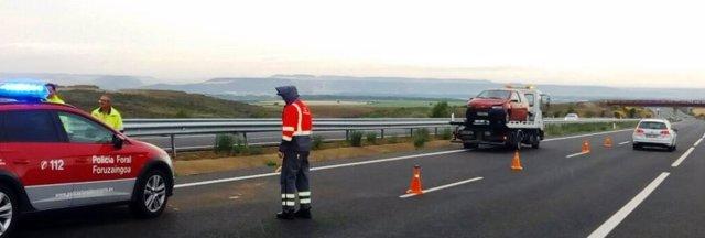 Conductor de sale de la vía en Bargota y triplica la tasa de alcohol.
