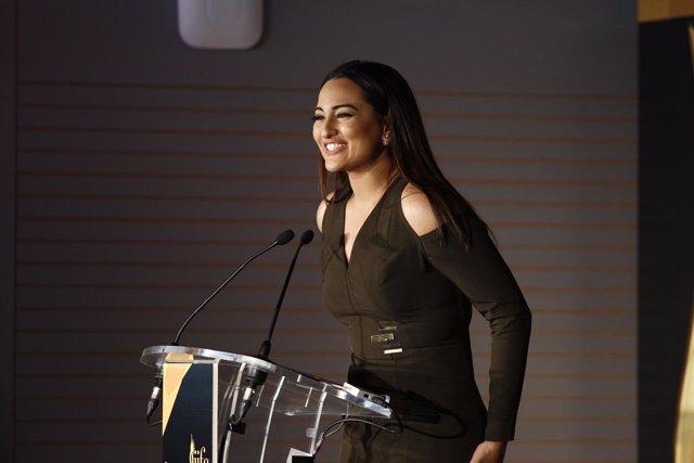Sonakshi Sinha, actriz de Bollywood, en la IIFA Weekend and Awards en Madrid