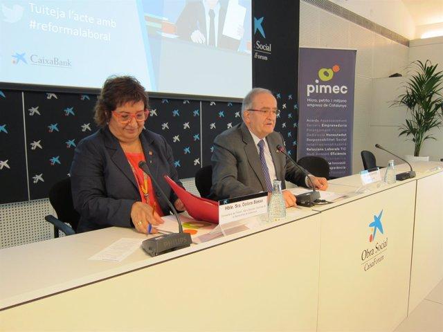 Dolors Bassa y Josep González, en la jornada