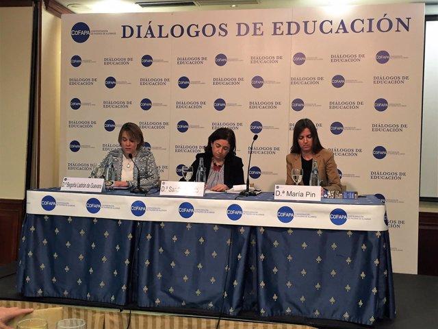Sandra Moneo (PP) en los Diálogos de la Educación de COFAPA
