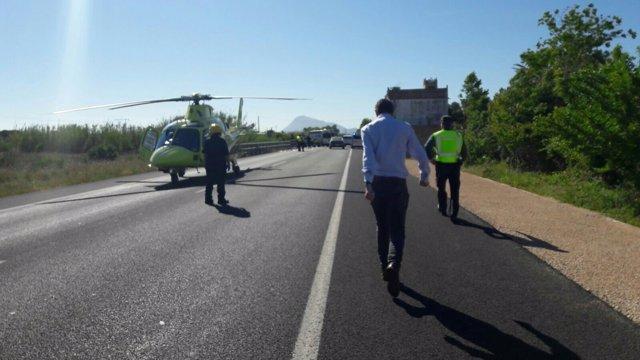 El accidente mortal se ha producido en la N-332 en Oliva (Valencia)