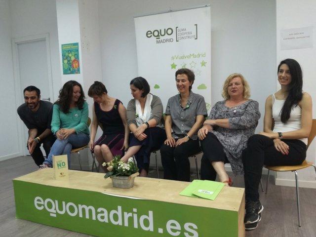 La coportavoz de Equo Madrid Clotilde Cuéllar, contra la endometriosis