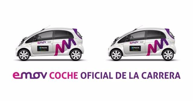 Emov, coche oficial de la carrera 15 Km Metlife Madrid Activa