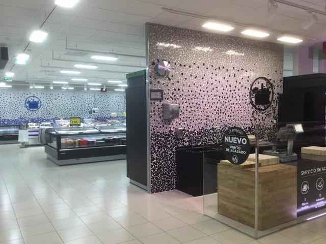 Imagen de la nueva tienda eficiente de Mercadona en Palencia