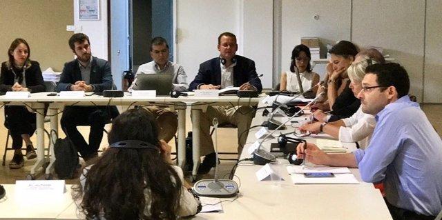El concejal José Guillén en una reunión de Urbelac