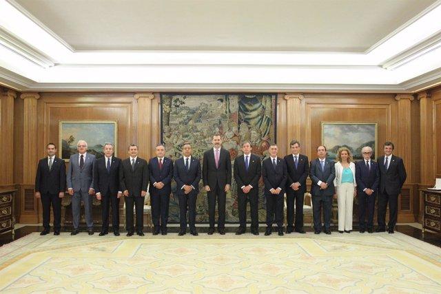 29-5-2017 S.M. El Rey Junto Al Comité Ejecutivo Del Consejo General De D._